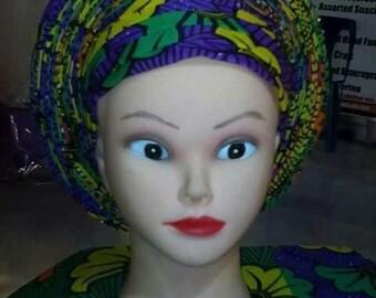 African prints head wrap