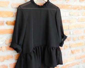 Chiffon/size M top/Blouse / women's clothing / Creation