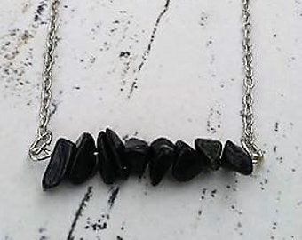 Black Jasper Necklace / Stone Necklace / Wicca Jewelry / Pagan Jewelry / Wiccan / Pagan / Stone Jewelry