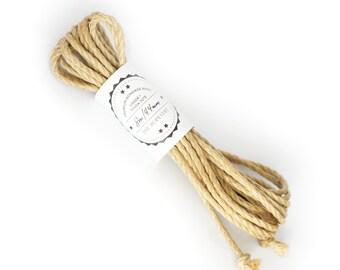 Shibari jute rope 1x 26ft, ∅ 0.17in / 1x 8m dia. 4.4mm, fully processed bondage rope