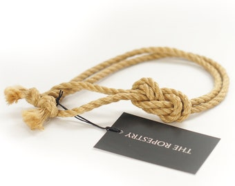 Rope sample, test piece, in various diameters, approx. 1m, oiled & flamed, ready to use, natural bondage rope
