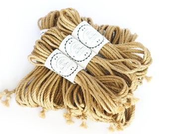 Shibari jute rope 8x 26ft, ∅ 0.20in /8x 8m dia. 5mm, ready-to-use skinfriendly bondage rope