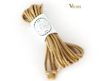 Shibari jute rope 1x 26ft, ∅0.24in /1x 8m dia. 6mm, VEGAN, ready-to-use natural jute rope for bondage, shibari and kinbaku