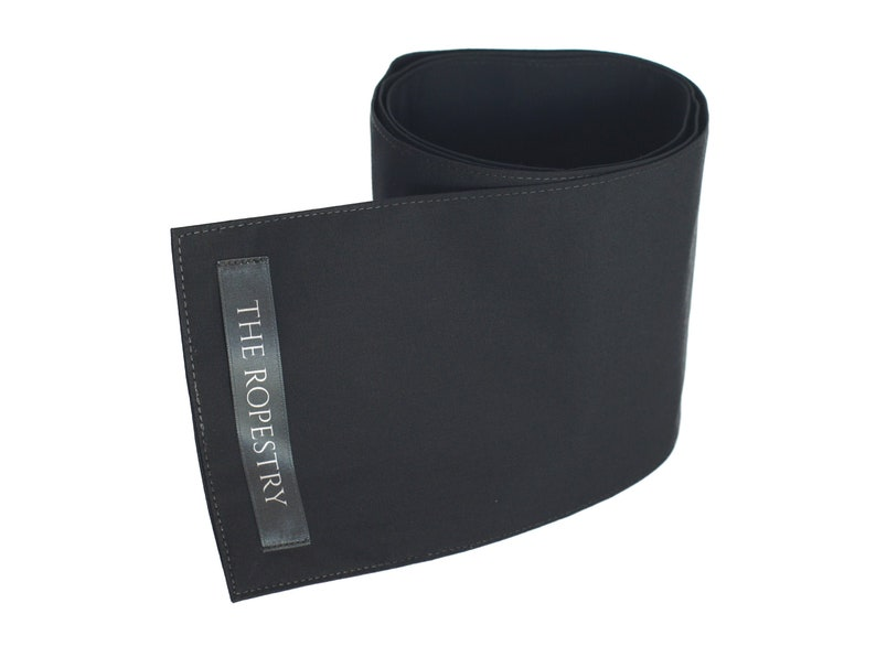 Black cotton blindfold three-ply with excellent grip 1 Stück / 1pc