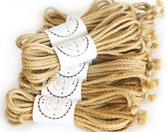 Jute rope set 8x 26ft, ∅ 0.24in /8x 8m dia. 6mm, soft, skinfriendly and ready-to-use Shibari Kinbaku Bondage rope