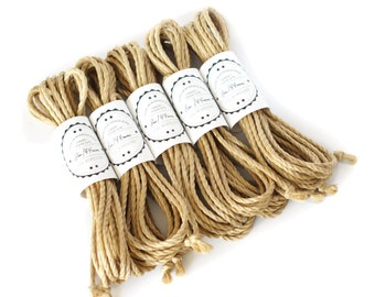 Shibari jute rope 5x 26ft, ∅ 0.17in /5x 8m dia. 4.4mm, processed and skinfriendly ready-to-use adult play rope