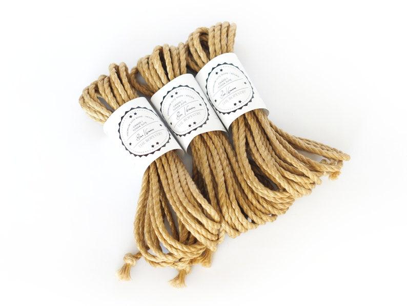 VEGAN Jute rope set 3x 26ft 0.24in /3x 8m dia. 6mm image 0