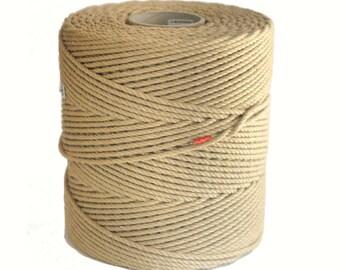 AMATSUNAWA 33 - 450m/1.476ft raw jute rope, ∅ 6mm/0.24inch, untreated, JBO free, wholesale quantity