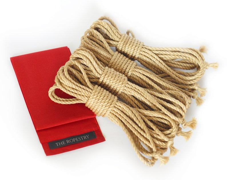 Bondage set incl. 4pcs jute rope 26ft/8m in  of your choice & image 1
