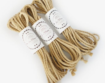Shibari jute rope 3x 26ft, ∅ 0.17in / 3x 8m dia. 4.4mm, ready-to-use play rope