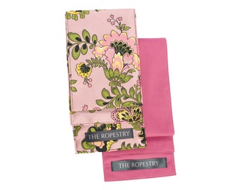 """Blindfold multipack """"Pink Florals"""", cotton & satin mix, soft eye cover, erotic adult play accessory"""
