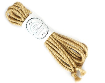 Shibari jute rope 1x 26ft, ∅ 0.22in /1x 8m dia. 5.5mm, excellent skinfriendly ready-to-use play rope