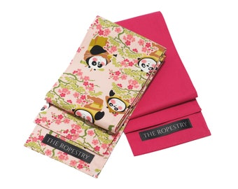 """Blindfold multipack """"Panda & Hot Pink"""", 100% cotton, soft eye cover with good grip, erotic adult play accessory"""