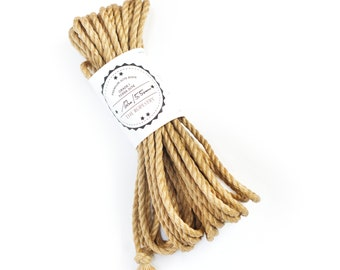 Shibari jute rope 1x 39ft, ∅ 0.22in /1x 12m dia. 5.5mm, excellent skinfriendly ready-to-use play rope