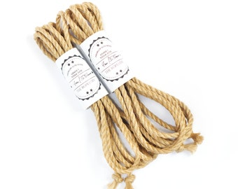 Jute rope set 2x 13ft, ∅ 0.22in /2x 4m dia. 5.5mm, excellent skinfriendly ready-to-use play rope