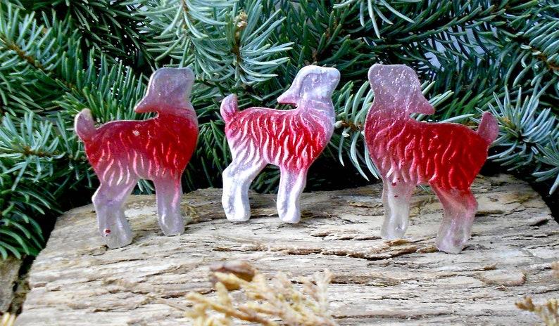 Fairytale Christmas Decorations.Three Baby Goat Vintage Soviet Christmas Decorations Baby Goat Figurine Dresden Cardboard Russian Fairytale Character Vintage Ussr