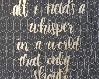 Whisper Foiled Print