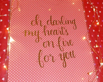 Heart's on Fire foiled print
