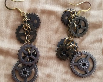 Steampunk Gear Earrings