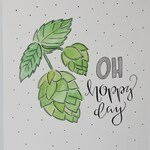 Oh Hoppy Day! IPA Lovers Wall Art ~ hops ~ india pale ale ~ beer snob ~ hops drawing ~ craft beer ~ craft brewing ~ lager ~ illustration