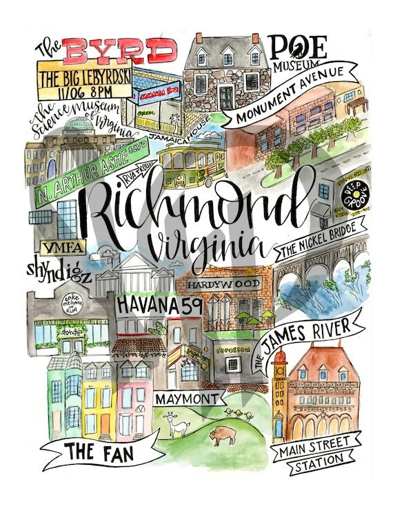Richmond Pillow RVA Virginia Richmond Hardywood James River The Byrd Nickel Bridge VMFA Main Street Station Maymont Shyndigz Poe Museum