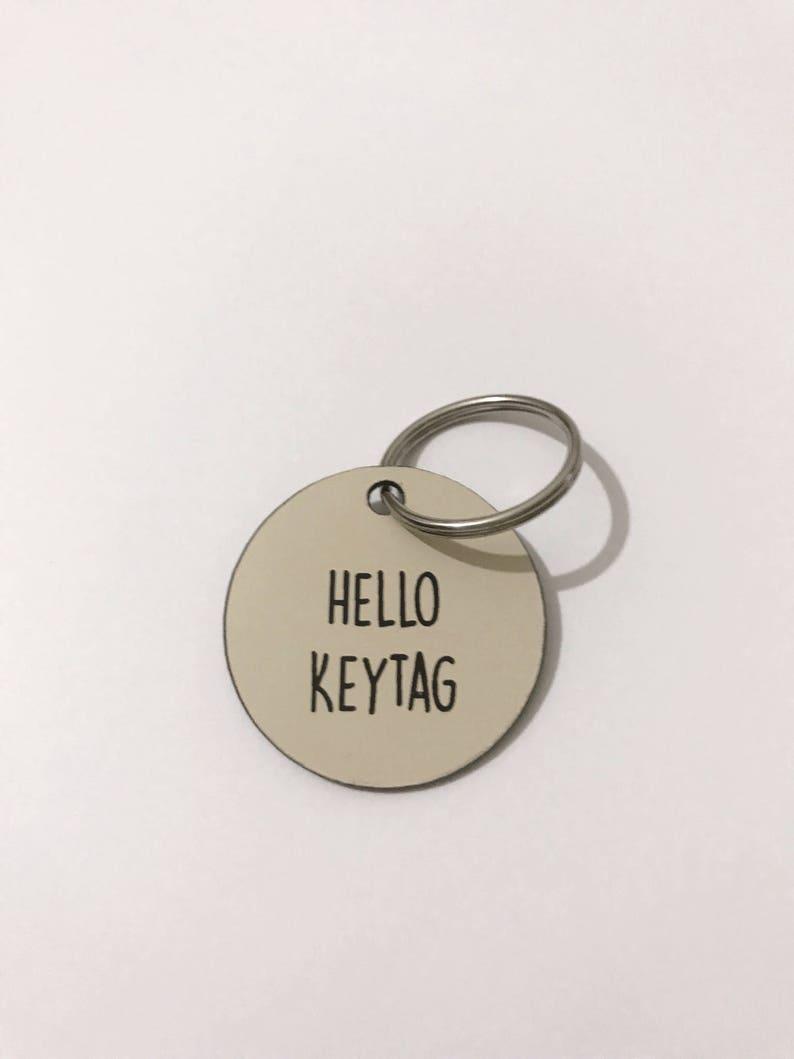 Custom Keychain Personalized Keytag Vintage Hotel Key Tag NINJA Personalized Gift Keychain Diamond Keytag Hexagon Keytag