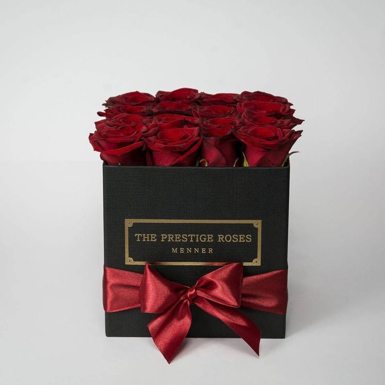 caf7734bb77d5 Coleccion Rosas Preservadas Caja Cuadrado The Prestige