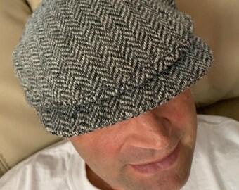 a51f0620cc287 Vintage L.L.Bean by Hanna Hats tweed pageboy cap