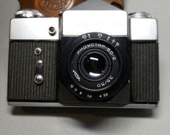 Zenith-B lens Industar-50 Vintage, photo camera, USSR