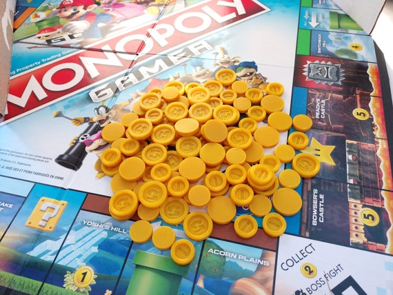 Monopoly Gamer Board Game Coins 100 Coins Per Pack 3d Etsy