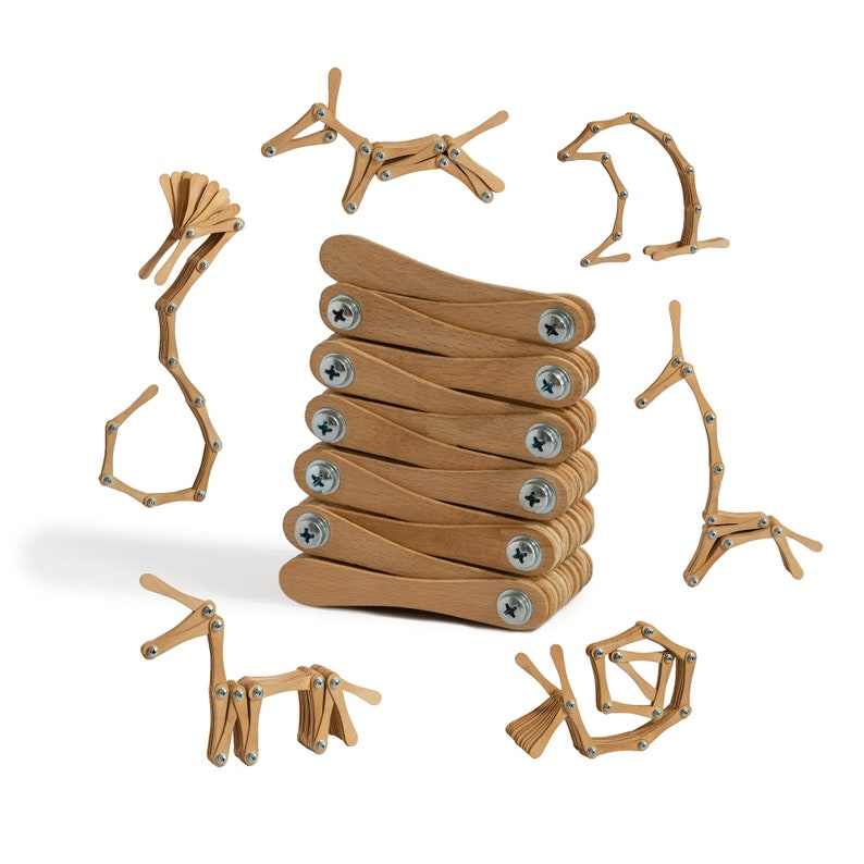 Wooden Montessori activity toy set image 1