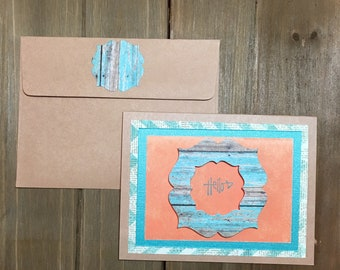 Handmade blank hello card