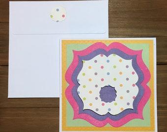 Handmade blank card