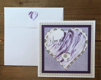 Handmade blank greeting card