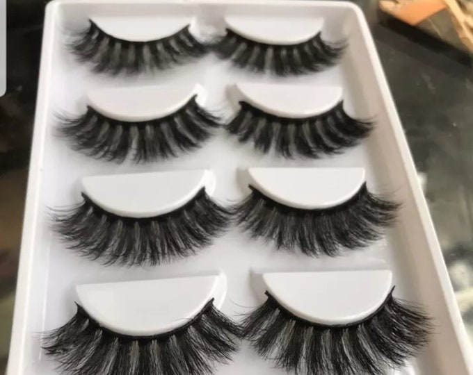 A set of five (5) 3d mink eyelashes.