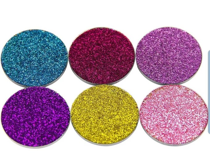 Pressed Glitter Eye shadow Single Pans.