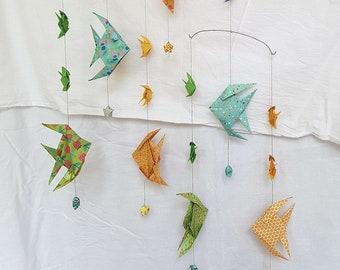 origami fish mobile