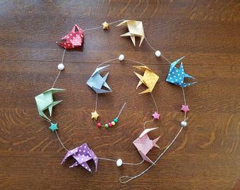 Origami fish Garland