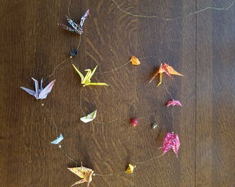 Garland (with boats) origami cranes