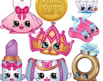 36 Shopkins Fashion Spree Clip Art - PNG Instant Download