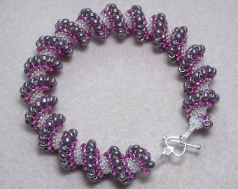 Seed Beaded Cellini Spiral Bracelet