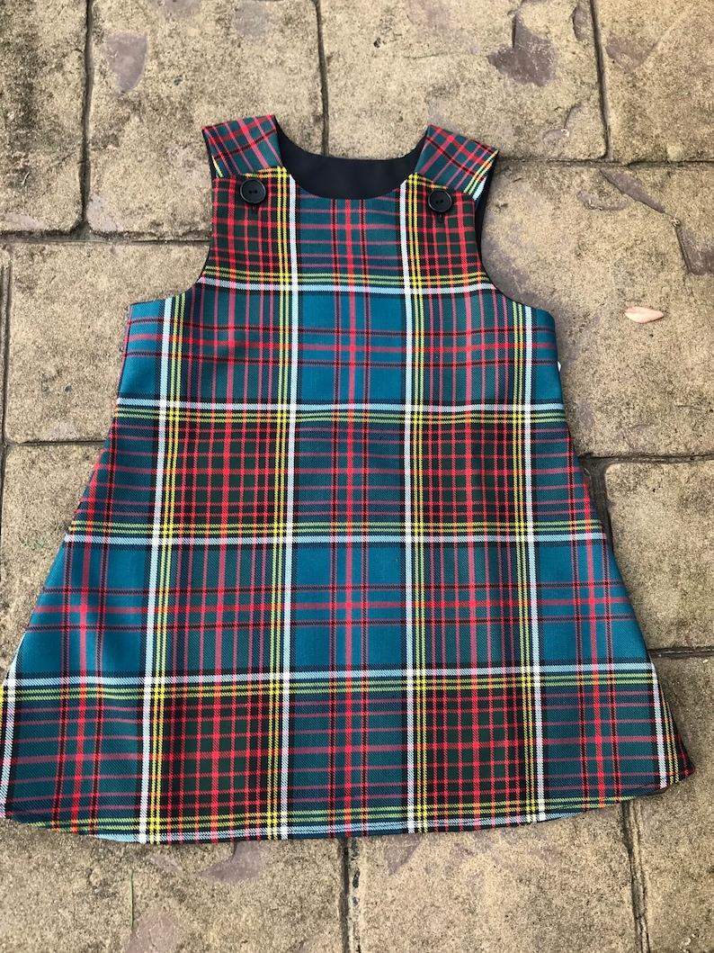Anderson Tartan Pinafore Dress