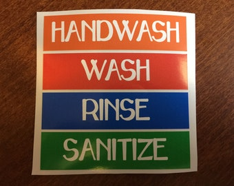 picture about Wash Rinse Sanitize Printable Signs named Moveable hand clean Etsy