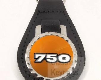 KAWASAKI H2 750 leather motorcycle keyring keychain 741e7c40d7c0