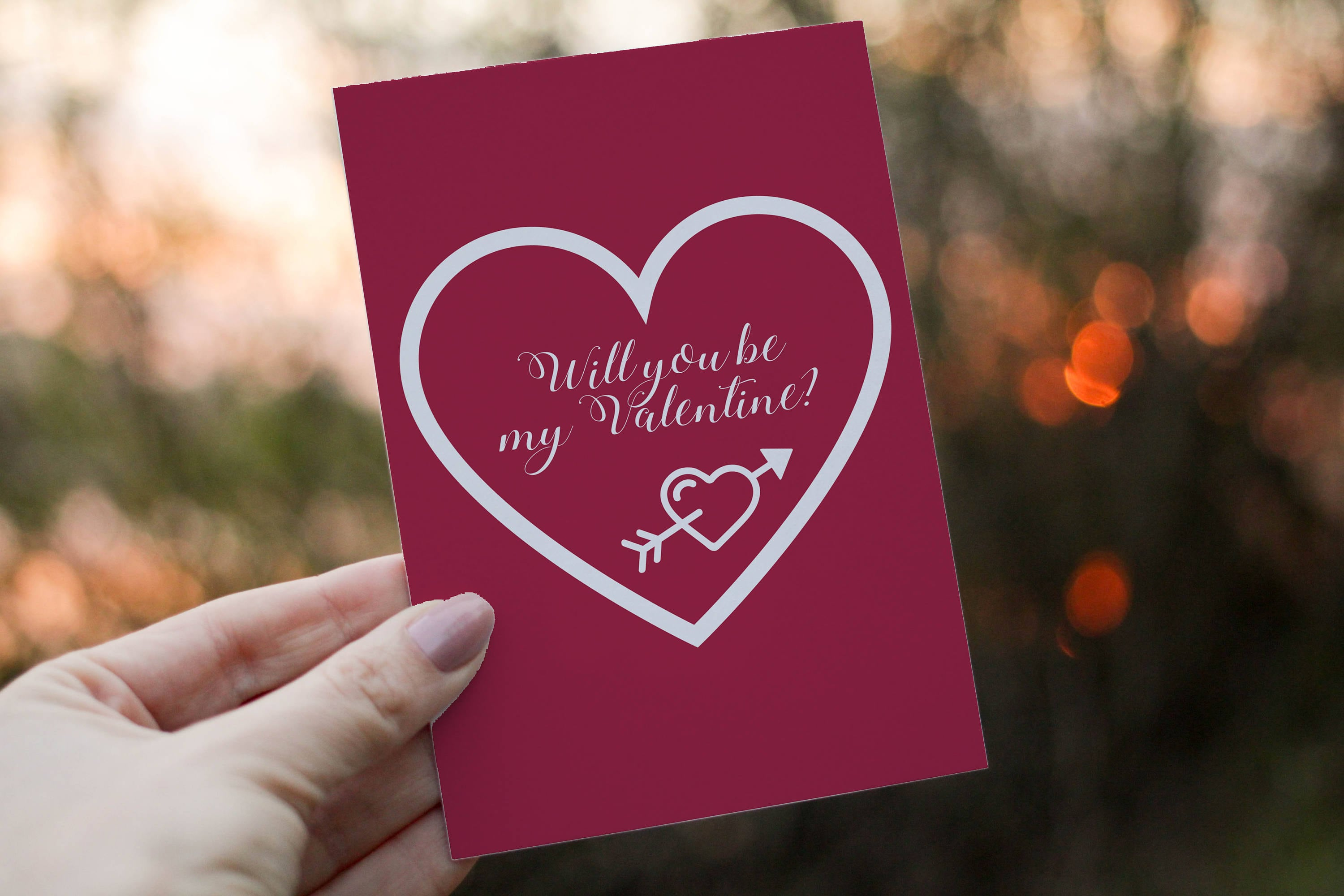 Will You Be My Valentine Card Valentines Day Card Instant