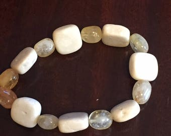 Citrine and River stone bracelet