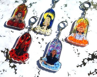 Castlevania Stained Glass charms