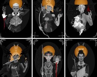 Dragon Age Elven Saint Foil Prints