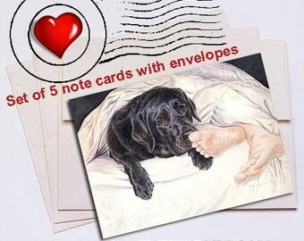 Lab Feet Labrador Retriever Note Card Set
