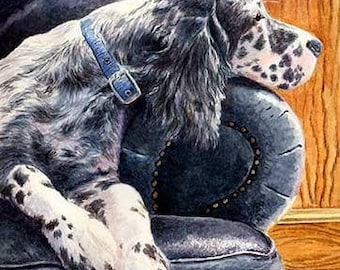 Couch Potato A Limited Edition English Setter Print